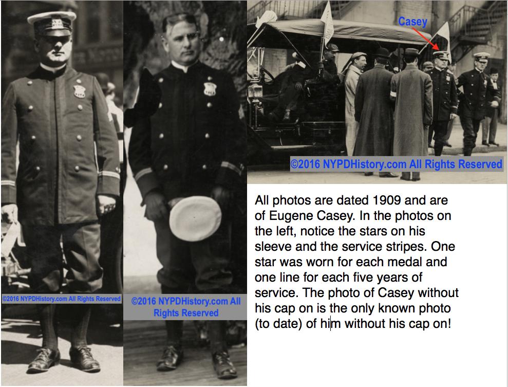 Roundsman Eugene Casey seen in these rare photos