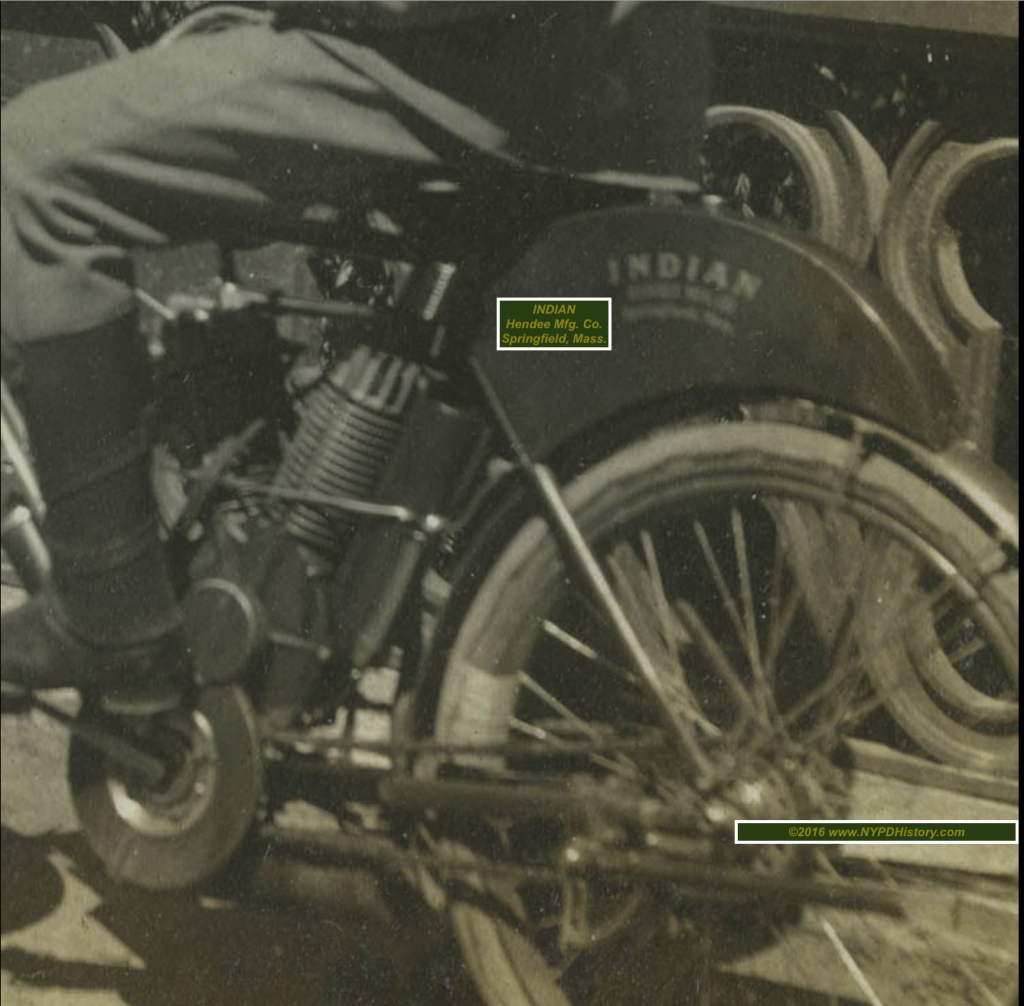 Circa 1904 - Close-Up Detail of Rear of Indian Mcy
