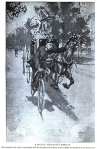 1898 Bicycle Squad Stopping Runaway Horse