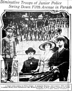 Commissioner Woods reviews the JPF at parade 1917