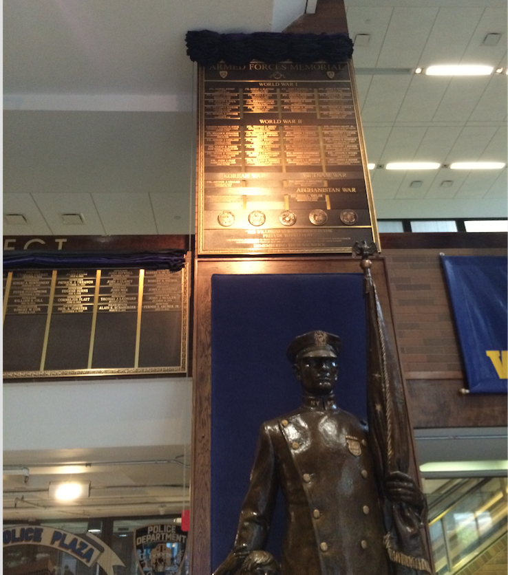 The Armed Forces Memorial Tablet, Lobby, 1 Police Plaza