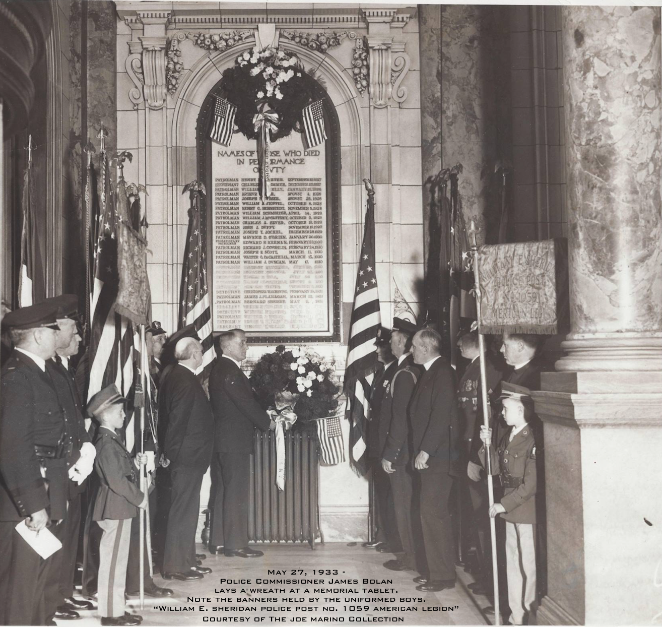 1933 Ceremony, Police HQ, 240 Centre St. See Caption in Photo.