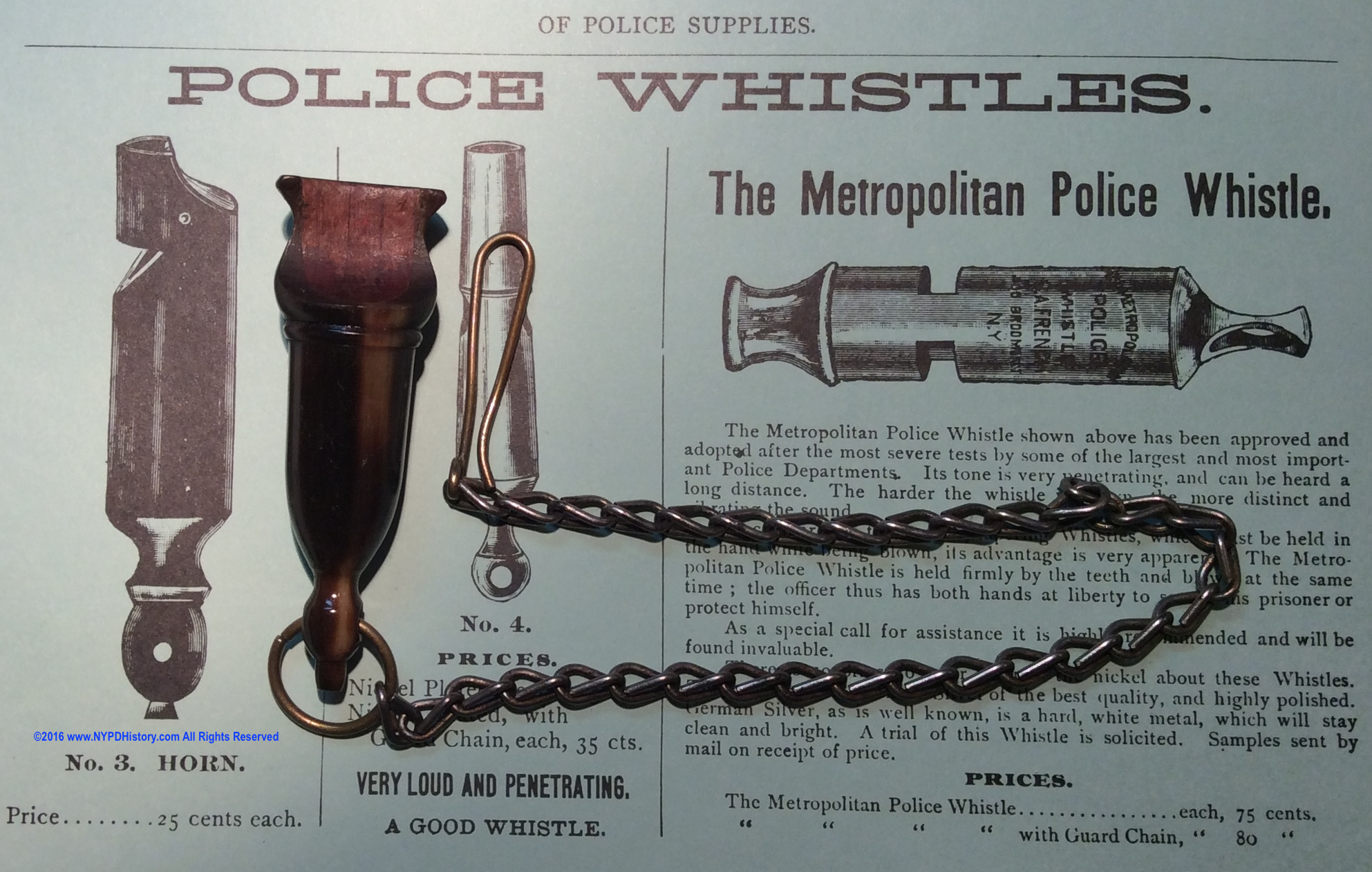 1897 S.A. French & Co. Police Catalog