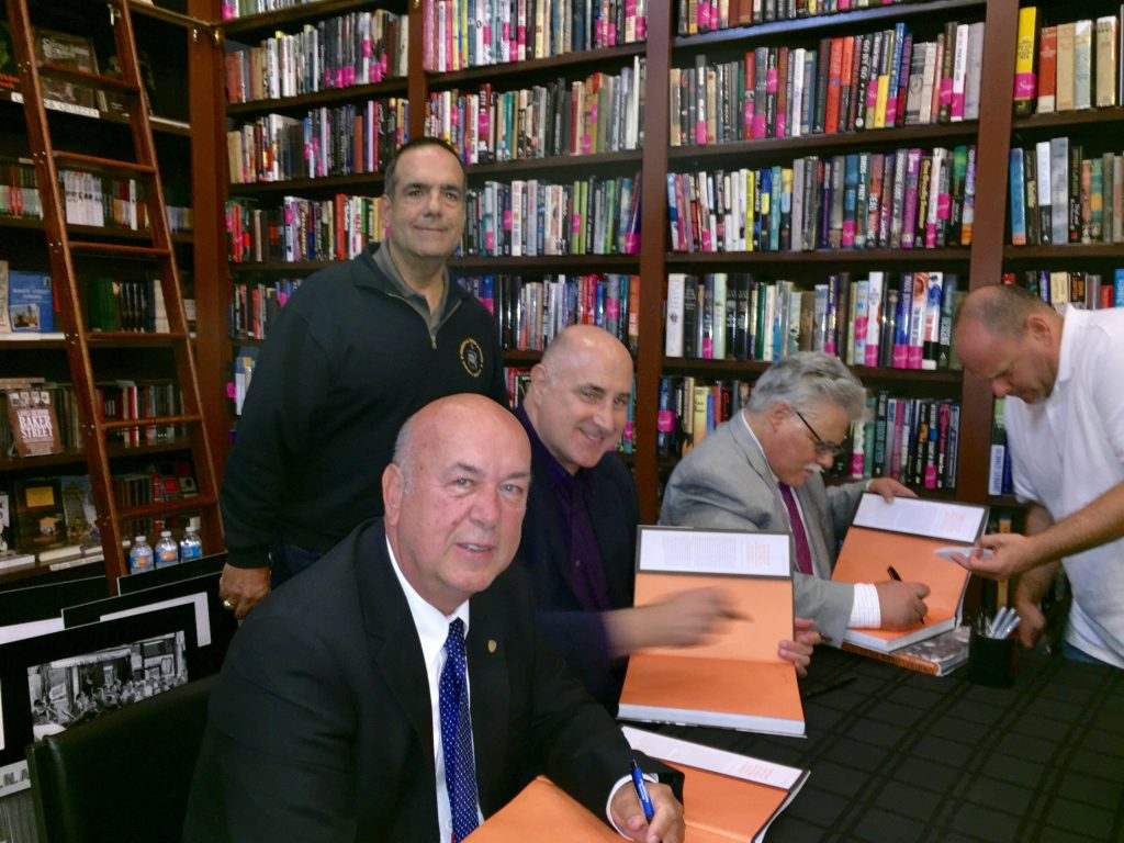 Seated are the authors, Bernard Whalen, Bob Mladinich and Phil Messing who were kind enough to sign books for the hundreds in attendance!