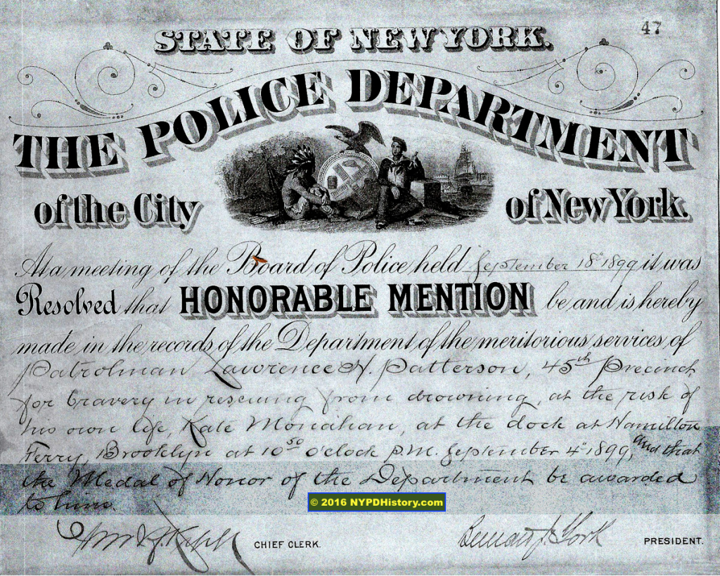 "1889 ""Honorable Mention With Certificate"""