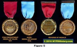Figure 5: 1912 FDNY Versus PDNY Medals