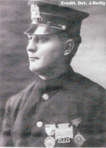 1912 Det. Sgt. Charles Carrao, Italian Squad, wearing the first MOH issued.